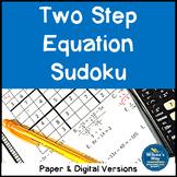 Two Step Equation Sudoku Math Game