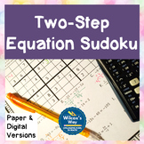 Two Step Equation Sudoku Math Game