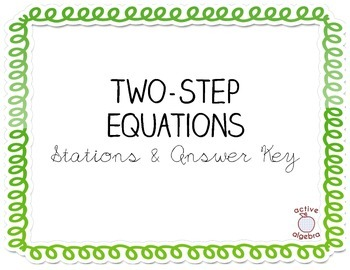 Two-Step Equation Stations