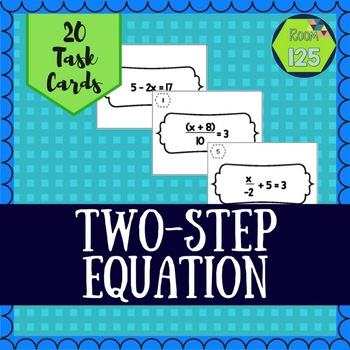 Two-Step Equation Task Cards