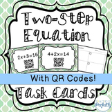 Two-Step Equation Task Cards with QR Codes!