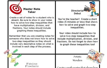 Two-Step Equation Task Rotation