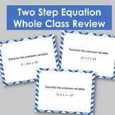 Two Step Equation Whole Class Practice