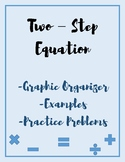 Two-Step Equation Word Problem Graphic Organizer, Note and