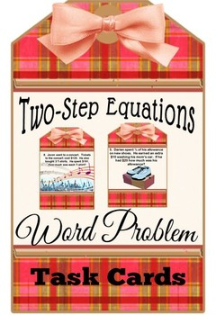 Two-Step Equation Word Problem Task Cards