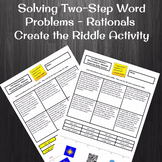 Two-Step Equation Word Problems with Rational Coefficients Create a Riddle
