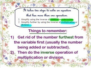 Two-Step Equations Solving 2 Two Step Equations Rational Numbers Smartboard