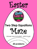 Easter Spring Solving Equations Two Step Equations Maze