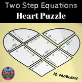 Solving Equations Two Step Equations Math Heart Puzzle