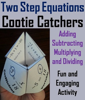 Solving 2 Step Equations Game Activity for 6th, 7th, 8th, 9th Grade