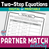 Two Step Equations Self-Checking Partner Activity