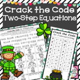 Two Step Equations Activity Crack the Code