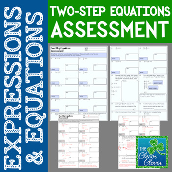 Two-Step Equations Assessment