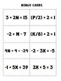 Two Step Equations BINGO