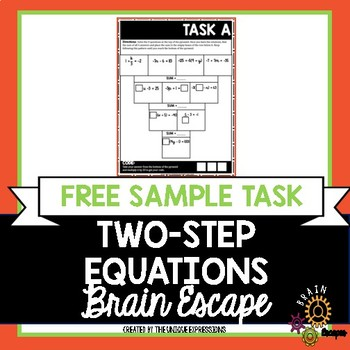 Two-Step Equations Escape Room Activity - FREE SAMPLE