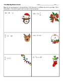 Two Step Equations Circuit Worksheet Christmas Theme