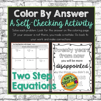 Two Step Equations Color By Answer