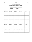 Two Step Equations Color Worksheet