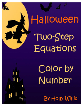 Two-Step Equations Halloween Color by Number