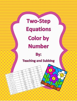 Two-Step Equations Color by Number
