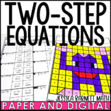 Two Step Equations Coloring Activity