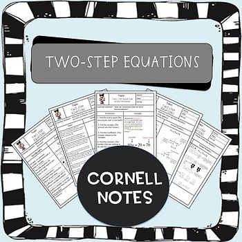 Two Step Equations Cornell Notes