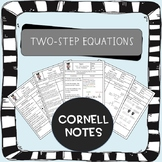Two Step Equations Cornell Notes (AVID)
