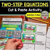 Two-Step Equations Cut & Paste Cassette Activity