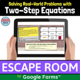 Two Step Equations Word Problems Digital Learning Activity