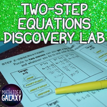 Two Step Equations Discovery Lab