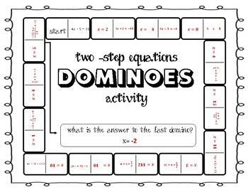 Two Step Equations Domino Activity