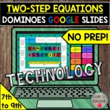 Two-Step Equations Dominoes Activity in GOOGLE SLIDES DIST
