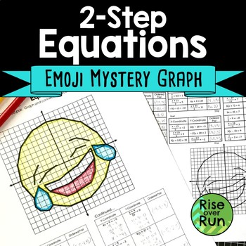 Two Step Equations Emoji Coordinate Graph Picture