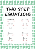 Two Step Equations - Examples Poster