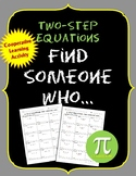 Two-Step Equations Find Someone Who ...