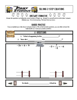 Two-Step Equations (Flipped Video Curriculum)