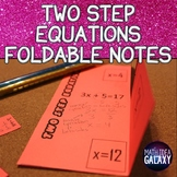 Two Step Equations Foldable Notes