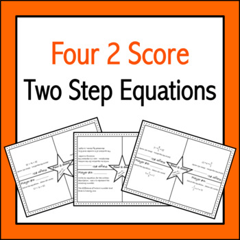 Two Step Equations: Four 2 Score