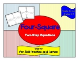 Two Step Equations Four-Square