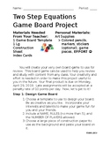 Two Step Equations Game Board Project