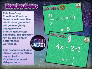 Two-Step Equations Game Pack