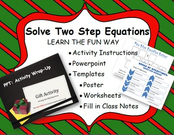 Two Step Equations: Gift Wrap Activity and Power Point Lesson