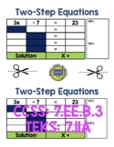 Two-Step Equations Graphic Organizer