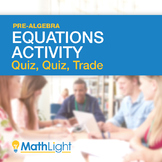 Two Step Equations Group Activity: Quiz, Quiz Trade