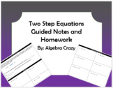 Two Step Equations Guided Notes and HW