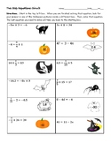 Two Step Equations Halloween Worksheet (Circuit)