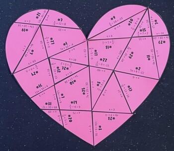 Two- Step Equations (Heart Puzzle/ Valentine's Day Activity)