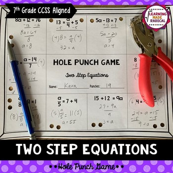 Two Step Equations Hole Punch Game