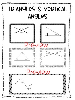 Two Step Equations, Inequalities and Angles Worksheets!