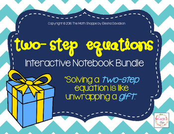 Two Step Equations Interactive Notebook Bundle